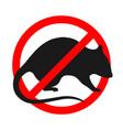 no rats vector image
