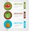 nutrition food infographic icons vector image