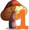One mushroom vector image vector image
