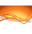 Orange swoosh speed wave background dot vector image vector image
