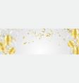 party balloons confetti and ribbons flag ribbons vector image vector image