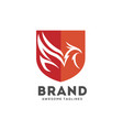 phoenix shield logo protection logo logo vector image