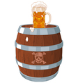 Pirate barrel vector image vector image