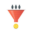 purchase funnel and lead generation in digital vector image vector image