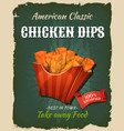 retro fast food chicken dips poster vector image vector image