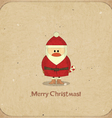 Santa Claus on vintage background vector image