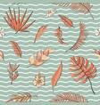 seamless pattern with tropical elements vector image