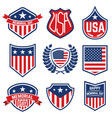 set emblems with american flag memorial day vector image vector image