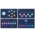 set of 7 options infographic designs vector image vector image