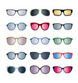 set of color glasses isolated 5 icons vector image