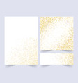 set white and gold banners greeting card or vector image vector image