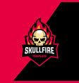 skull fire sport concept design template vector image