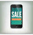 Smartphone with word Sale on display vector image