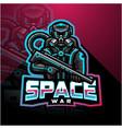 space war esport mascot logo vector image