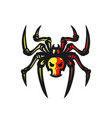 spider logo vector image vector image
