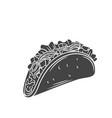 tacos glyph icon vector image vector image