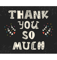 Thank you so much Postcard with funny design vector image vector image