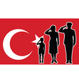 Turkey soldier family salute vector image vector image