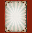 vintage blank circus poster sign vector image vector image
