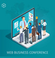 web conference banner vector image vector image