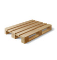 Wooden pallet Isolated on white vector image vector image