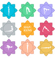 Yoga icons Flat design vector image