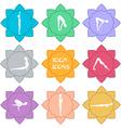 Yoga icons Flat design vector image