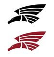 attacking eagle for tattoo design vector image
