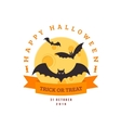 Bats and full moon vector image