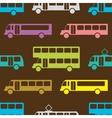 Retro bus seamless pattern vector image