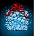 Snowflakes Christmas gift box vector image