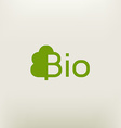 Bio logo eco label natural product sign organic vector image