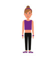 fitness woman wear vector image