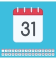 Flat calendar icon with data vector image