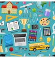 School Education Seamless Pattern vector image