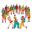 Street dance group people audience isolated vector image