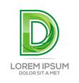 lettering d logo design vector image