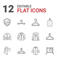 12 coat icons vector image vector image