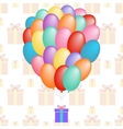 a cloud of balloons gift patterns seamless vector image