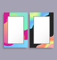abstract photoframe with blurred pattern on border vector image vector image