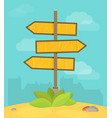 abstract strategy concept in flat style - road vector image vector image