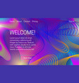 asbtract vibrant background design landing page vector image vector image