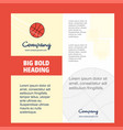 basket ball company brochure title page design vector image vector image