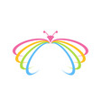 beautiful colorful butterfly crescent open wings vector image