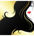 beautiful girl with an elegant hairstyle vector image