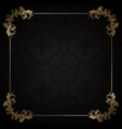 black and gold decorative background vector image vector image