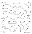 black arrows hand drawn doodles vector image vector image