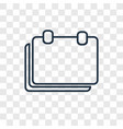 break concept linear icon isolated on transparent vector image