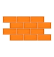 Brick wall icon cartoon style vector image vector image