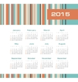 Calendar 2015 year with colored stripes vector image